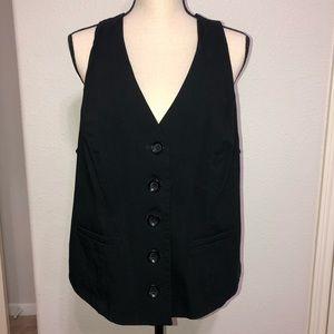 Lane Bryant Black  Lace-Up Back Corset Vest 16